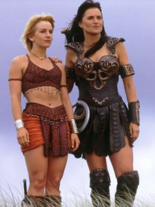 Renée O'Connor as Gabrielle, Lucy Lawless as Xena: Warrior Princess