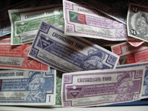 Canadian Tire. Money. Canada.