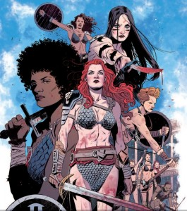 "Red Sonja 1973, ""The Arena of Death"" by David Walker, drawn by Bilquis Evely, Dynamite 2015"