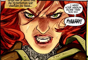 "Red Sonja 1973, ""The Raiding Party"" by Eric Trautman, drawn by Ivan Rodriguez, Dynamite 2015"