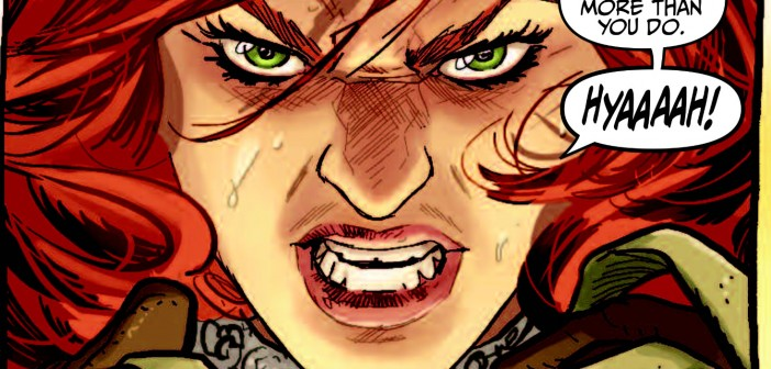 """Red Sonja 1973, """"The Raiding Party"""" by Eric Trautman, drawn by Ivan Rodriguez, Dynamite 2015"""