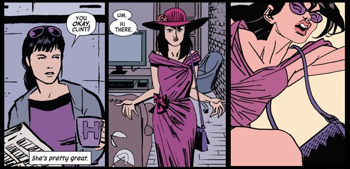 Hawkeye #02, Matt Fraction, David Aja. Marvel, 2012. Hawkeye #07, Matt Fraction, Steve Liever & Jesse Hamm. Marvel, 2012