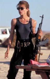 Linda Hamilton as Sarah Connor in Terminator: Judgment Day