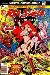 Red Sonja #1 cover by Franke Thorne, Marvel, 1977