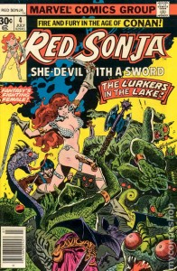 Red Sonja #4 cover by Franke Thorne, Marvel, 1977