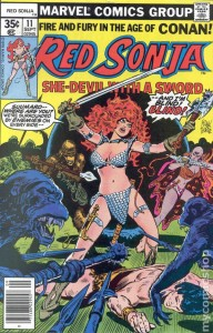 Red Sonja #11 cover by Franke Thorne, Marvel, 1978