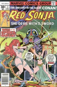 Red Sonja #3 cover by Franke Thorne, Marvel, 1977