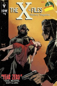 X-Files: Year Zero #4, variant cover by Robert Hack, IDW, 2014