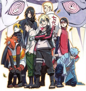 Movie poster for Boruto: Naruto the Movie. Art by Masahi Kishimoto. VIZ Media/Shueisha.