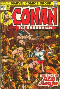 Conan the Barbarian #24, written by Roy Thomas and drawn by Barry Windsor-Smith, Marvel, 1973