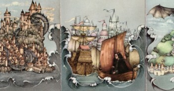 Earthsea Trilogy by Ursula K. LeGuin, cover illustrations by Pauline Ellison