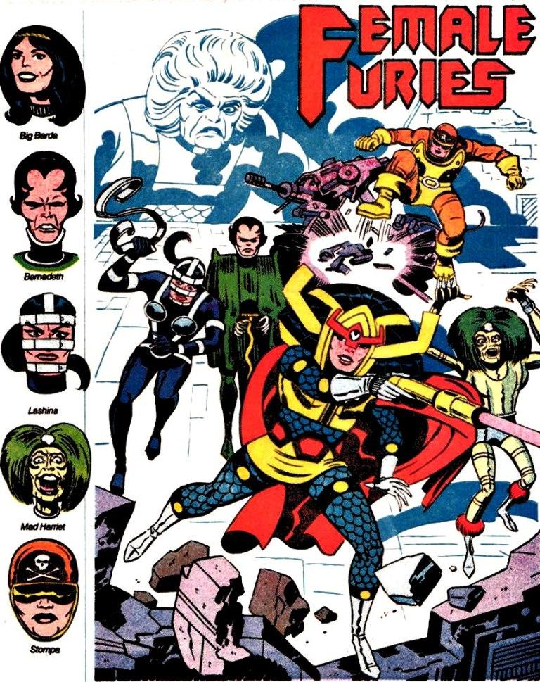 Jack Kirby's Big Barda & the Female Furies, for DC Comics
