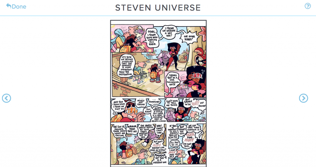 The zoomed out comics view