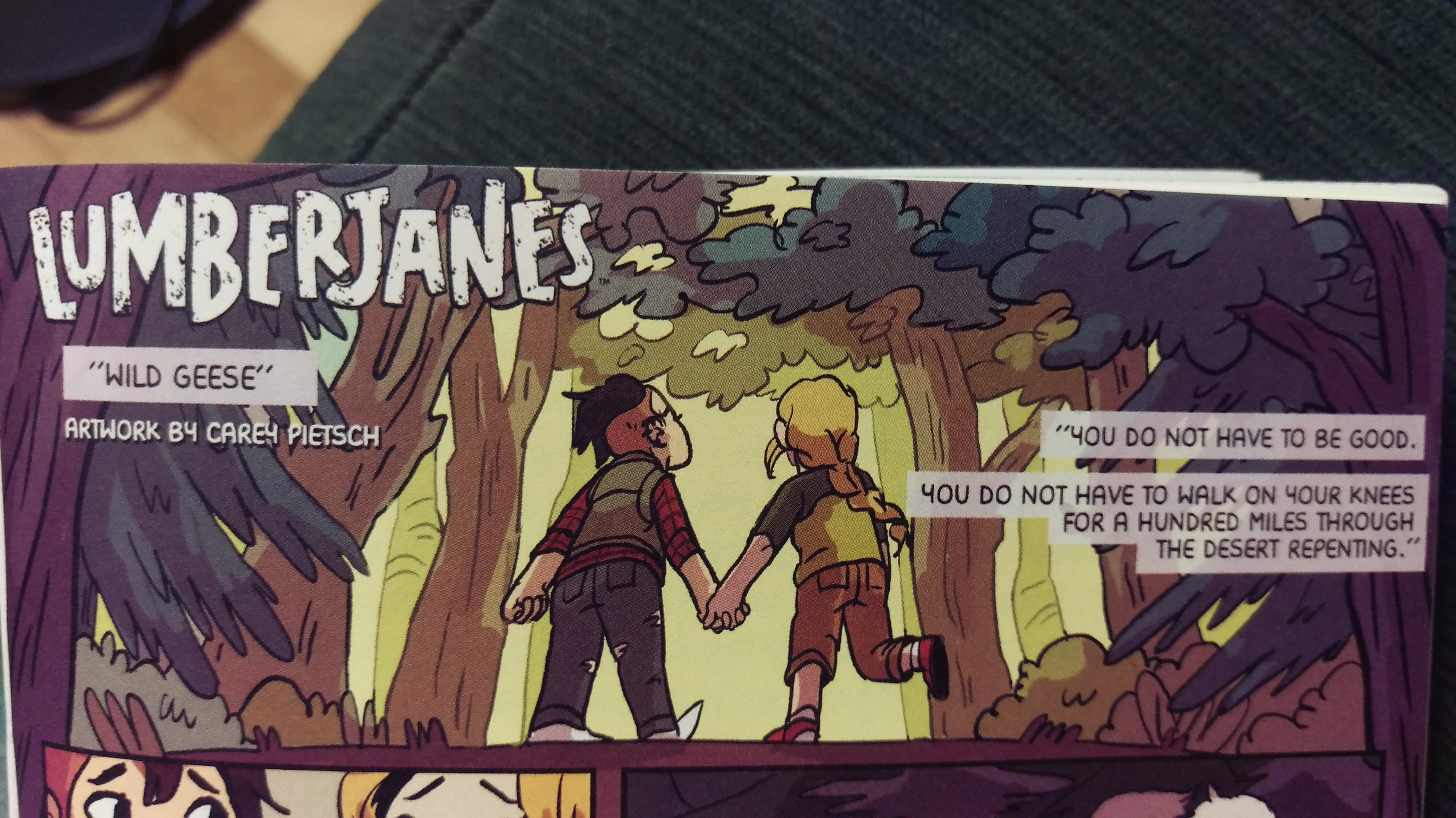 Lumberjanes for Autostraddle Better Together Zine