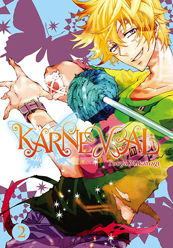 Karneval vol 2 cover. Touya Mikanagi. Yen Press, 2015.