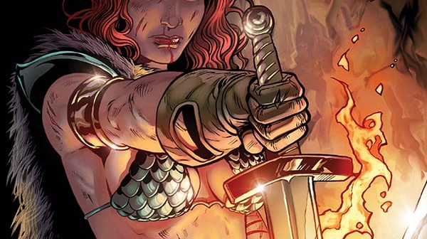 Red Sonja #17 variant cover by Rebekah Isaacs, Dynamite 2015