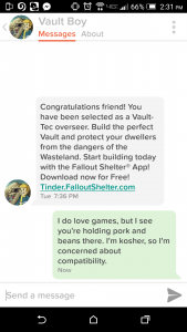fallout on tinder