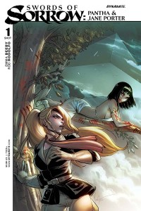Swords of Sorrow Pantha and Jane Porter, Cover by Mirka Andolfo, story by Emma Beeby, Dynamite 2015