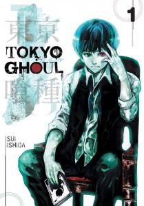 Cover of Tokyo Ghoul volume 1. Story & art by Sui Ishida. VIZ Media/Shueisha.
