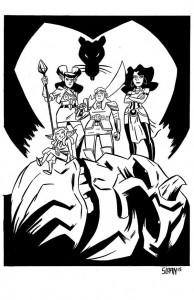 Rat Queens Sketch by Philip Sloan for Superhero Weekend Auction