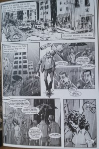 The first page of Ram V & Kishore Mohan's Dead Rain.