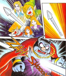 Legend of Zelda a Link to the Past - Shotaro Ishinomori - Death of Ganon. Nintendo Power. VIZ Media, May 2015.