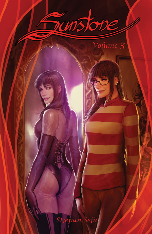 Sunstone volume 3 cover. Stjepan Sejic. Image / Top Cow. Sept 2015.