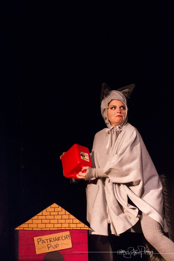 Sophie Maltease as Grumpy Cat. Bechdel Test Burlesque 2015. Photo by Heather Schofner.