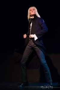 Bolt Action as Lucius Malfoy. [Photo by Heather Schofner.] Bechdel Test Burlesque 2015.