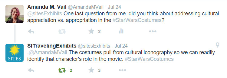 Cultural Appropriation Question to SITES re Star Wars