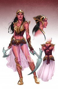 Dejah Thoris costume redesign by Nicola Scott, 2015
