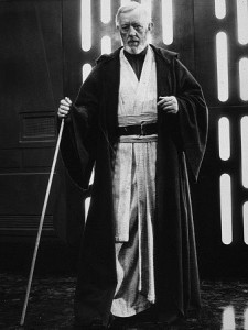 Obi-Wan Kenobi portrayed by Alec Guiness - Star Wars 1977 Lucasfilm