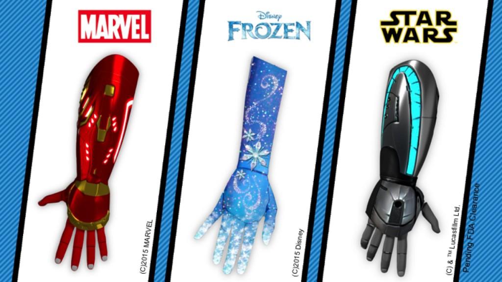 Open Bionics arm designs