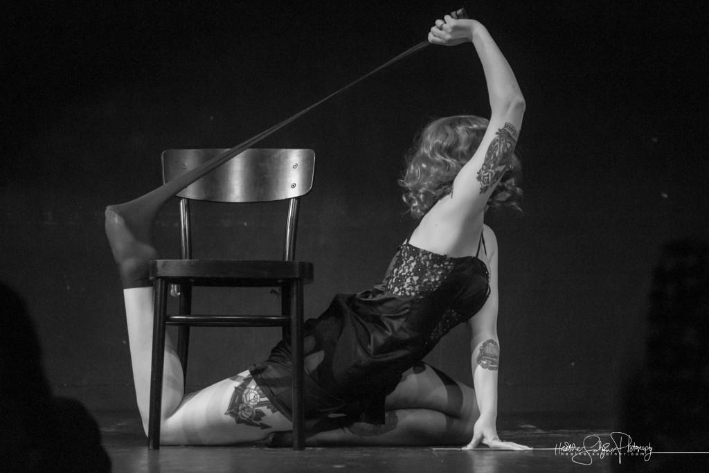 Sailor St. Claire as Black Widow - Bechdel Test Burlesque 2015