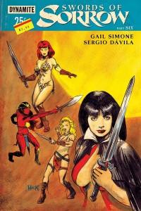 Swords of Sorrow #6 | Gail Simone (w) Sergio Davila (i), Emanuela Lupacchino (cover) | Dynamite Entertainment