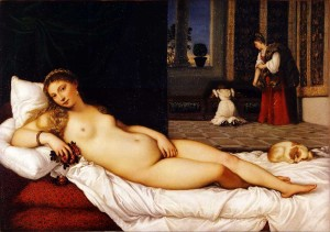 "Titian: ""Venus of Urbino"" 1538, Uffizi Gallery"