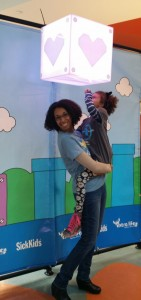 Wendy Browne and daughter at Sick Kids Hospital for Extra Life 2015
