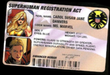 Ms. Marvel's Registration Act ID card