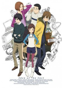 Eden of the East team (Micchon, center)