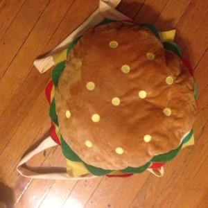 Cheeseburger Backpacks are also an Indiegogo perk. Photo from the Queersplay facebook.