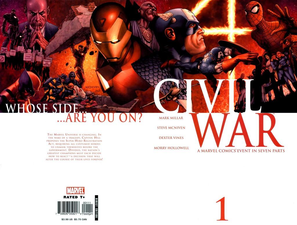 Marvel Civil War #1 (2006) Nark Millar, Steve McNiven, Dexter Vines, Morry Hollowell