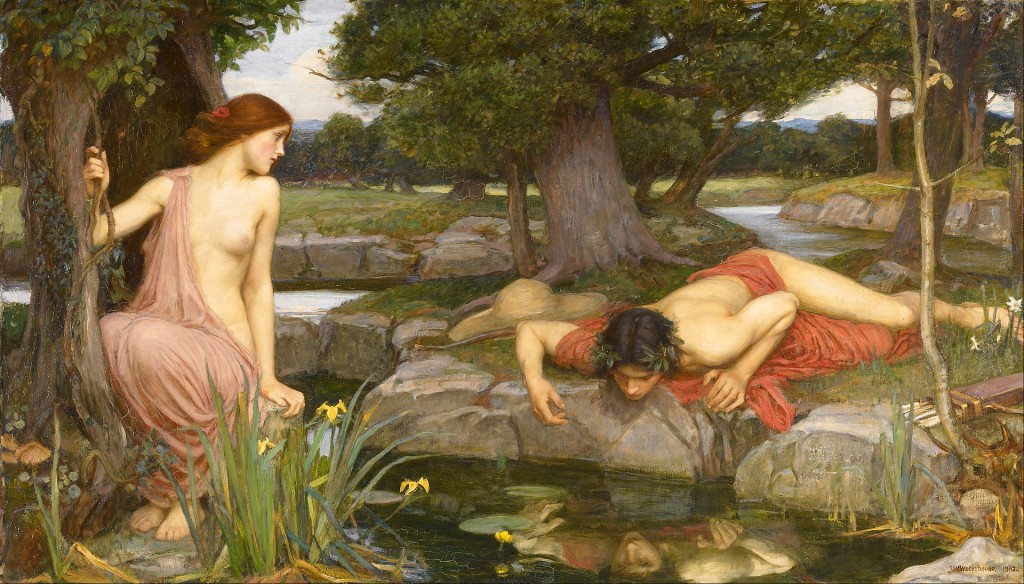 Echo and Narcissus by John William Waterhouse, 1903. (Walker Art Gallery)