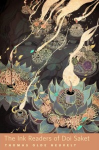 "Cover of ""The Ink Readers of Doi Saket"", ebook edition. Illustration by Victo Ngai, Tor.com, 2013"