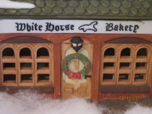Christmas Dickens village White House Bakery