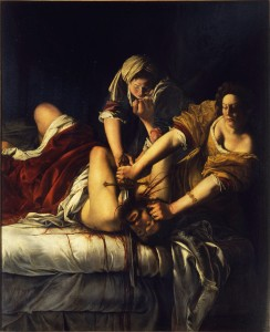 Judith Slaying Holofernes by Artemisia Gentileschi, 1614-18. (Museo di Capodimonte)