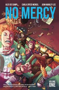 No Mercy trade paperback cover, writer alex de campi, artist carla speed mcneil, colorist jenn manley lee, image comics 2015