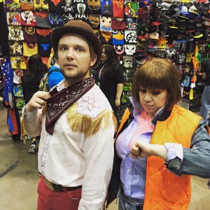 Queersplay Cosplay time travels to Comikaze. Photo from the Queersplay facebook.