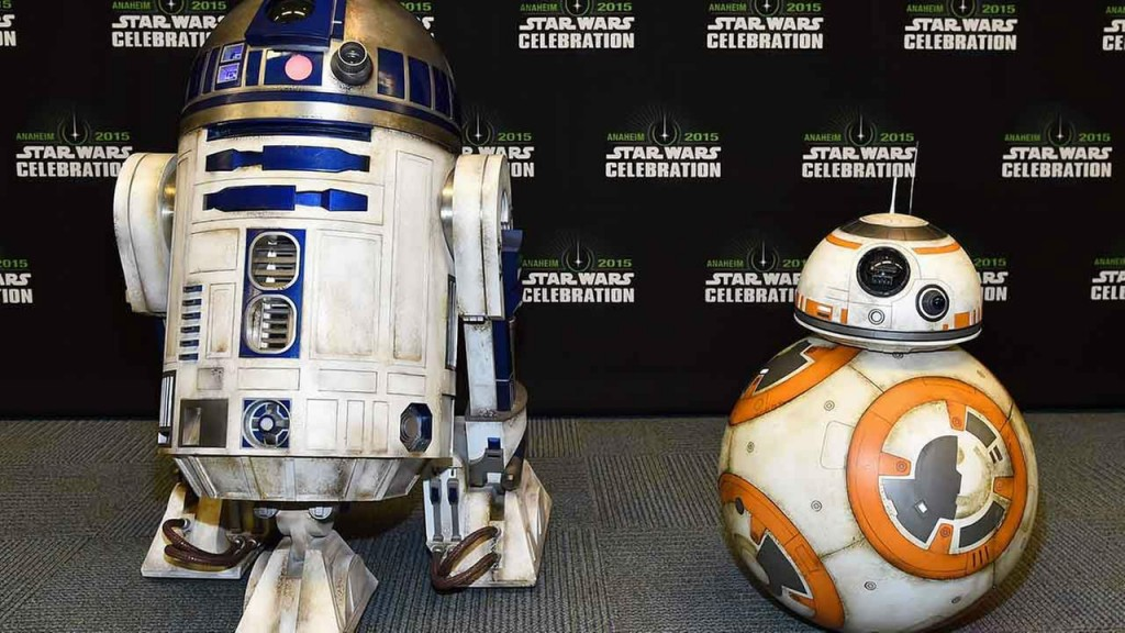 BB-8 hanging out with R2-D2 (Getty Images for Disney)