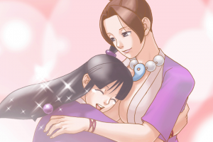 Screencap from Ace Attorney: Justice for All (Capcom, Nintendo DS, 2006) / image retrieved from http://vignette4.wikia.nocookie.net/aceattorney/images/a/ab/Sisters_Reunited.png/revision/latest?cb=20120226012756