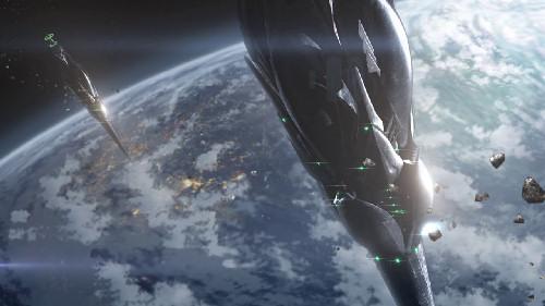 Aldnoah Zero Anime Pointy Space Ships